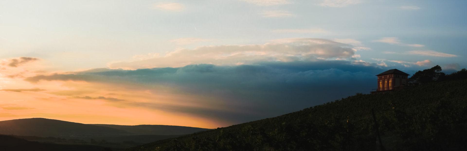 Ein wunderbarer Sonnenuntergang am Elisenberg