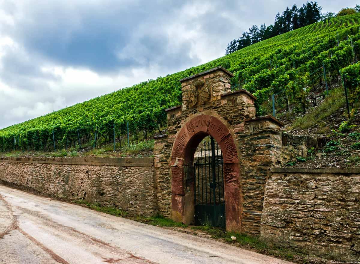 Der Abtsberg ist von einer Mauer umgeben.