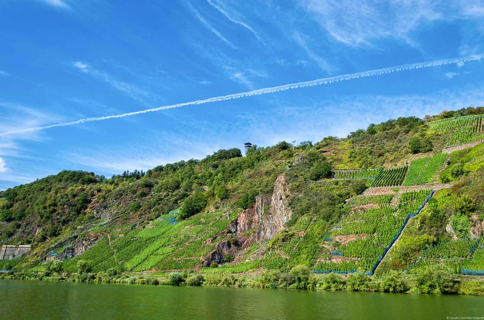 Die Felsterrasse ist ein Teil des Steilhangs Pündericher Marienberg