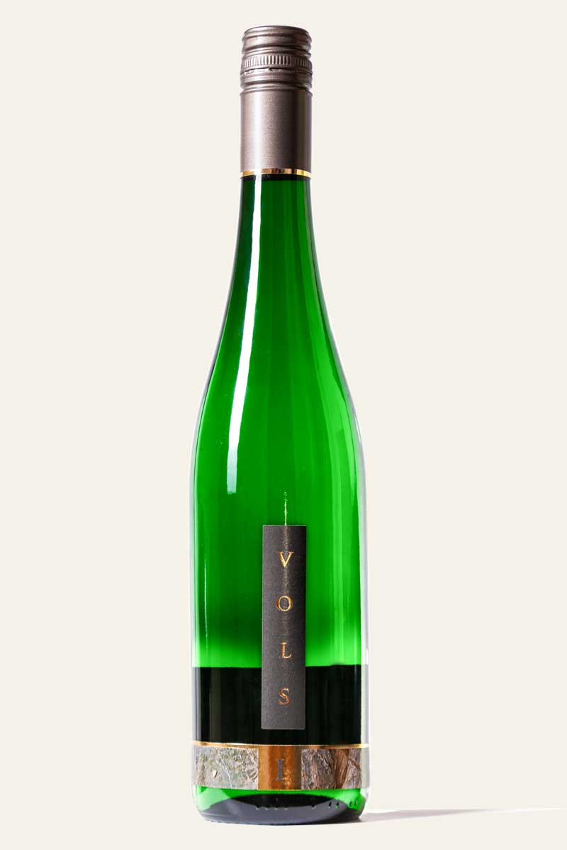 Vols Riesling Spätlese 2018 edelsüß abgefüllt in dunkelgrüner Weinflasche