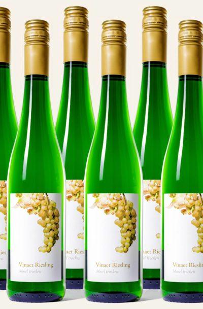 Vinaet Riesling trocken sechs Flaschen