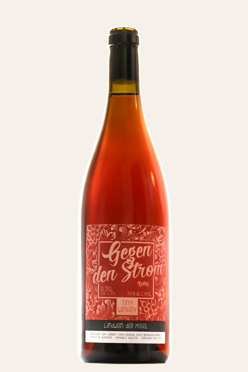 Tiny Winery Gegen den Strom Rotling Flasche