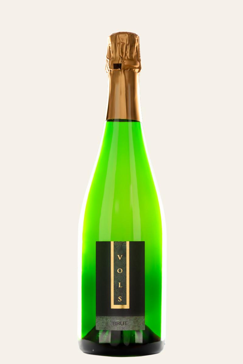 Vols Riesling Brut in grüner Flasche mit goldenem Flaschenkopf