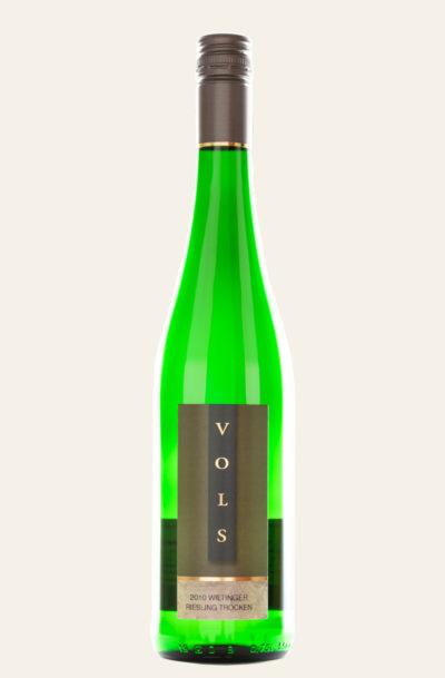 Vols Wiltinger Riesling trocken 2020 Flasche in grüner Farbe
