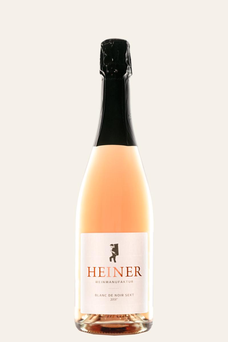 Weinmanufaktur Heiner Blanc de Noir Sekt 2018 in der Flasche