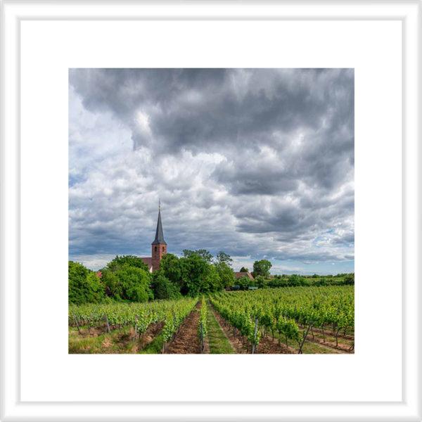 Forster Kirchenstück unter Wolken Vorschau 1 zu 1 30 x 30 cm mit Rahmen
